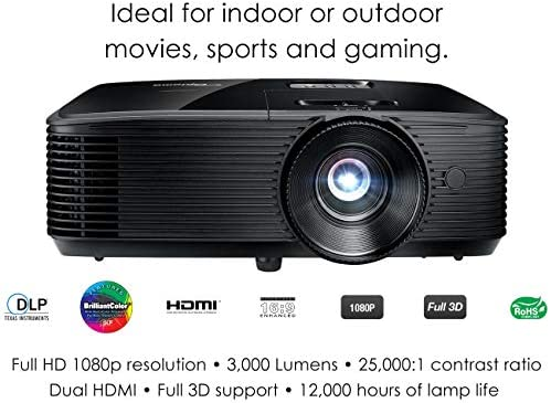 Optoma HD143X Video - Proyector (3000 lúmenes ANSI, DLP ...