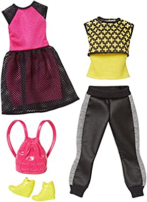 Barbie Fashion 2 Pack Casual – Negro, Rosa y Amarillo