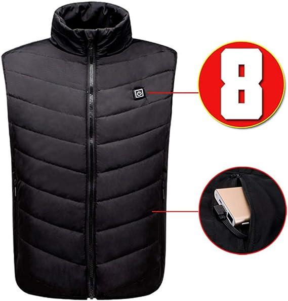 Gilet Chauffant pour Homme Femme Veste Chauffante USB Charge /Électrique Hiver Temp/érature R/églable USB pour Ski P/êche Camping,Veste Chauffante Homme