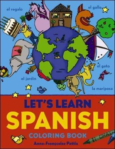 Lets Learn Spanish Coloring Book  Lets Learn Coloring Books