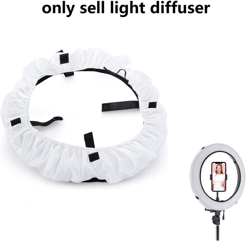 Lapogy 18 Inch Collapsible Ring Lighting Studio Diffuser for Beauty, Portrait,Ring Fluorescent Light Flash Light and Product Photography