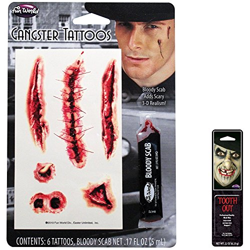 Bundle: 2 Items - Gangster Bloody Super Toos Makeup Kit with Free Pack of Makeup