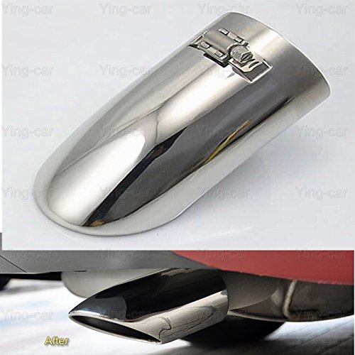 1 x Silver Tailpipe Trims Exhaust Muffler Tail Pipe Tip for Ford Foucs 2012-2018 Yingchi
