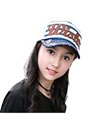 Baseball Cap Child Girls Embroidery Stripe Spring Summer Sun Hat