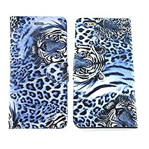 MOM Steller Pattern PU Leather Cover with Card Slot for iPhone 6 Plus , Blue