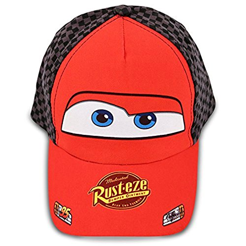 Disney Toddler Boys Cars Lightning McQueen Cotton Baseball Cap, Age 2-5