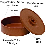 IMUSA USA MEXI-1000-TORTW Tortilla Warmer Terracota 8.5-Inch, Light Brown Brick Color