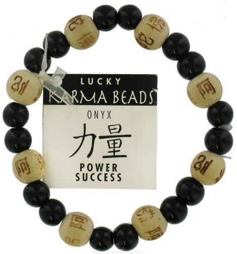 Lucky Karma Beads Bracelet Onyx Natural Power Success - CLEARANCE PRICED (Lucky Karma Bracelet)