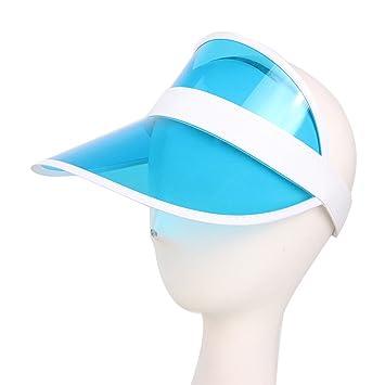 HUPLUE - Sombrero de plástico Transparente para Niños y Niñas para  Exteriores 93651da95d3