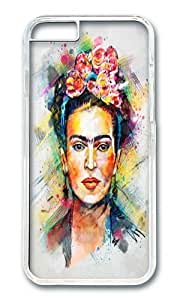 Apple Iphone 6 Case,WENJORS Personalized Frida Kahlo Hard Case Protective Shell Cell Phone Cover For Apple Iphone 6 (4.7 Inch) - PC Transparent