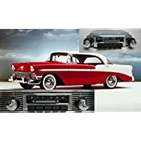 1955-1956 Bel Air, Nomad, One Fifty, Two Ten 300 watt Slidebar AM FM Car Stereo/Radio with iPod Docking Cable