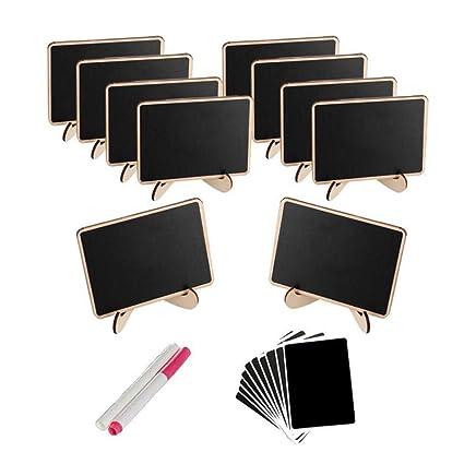 STOBOK Mini pizarras con soporte Tablero de mensajes de ...