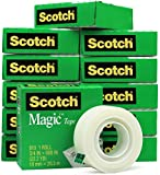 Scotch 810 Roll Magic Tape, 3/4'' x 800'' (22.2 YD) - 12 Rolls