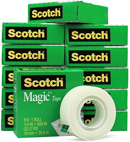 Scotch 810 Roll Magic Tape, 3/4