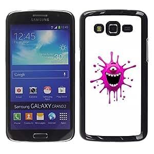 """For Samsung Galaxy Grand 2 II , S-type Monstruo rosado divertido"""" - Arte & diseño plástico duro Fundas Cover Cubre Hard Case Cover"""