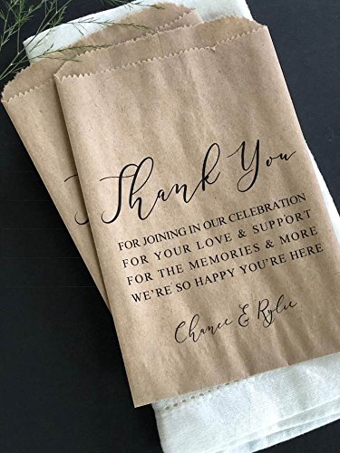 Amazon Elegant Wedding Favor Bags Personalized Custom Printed