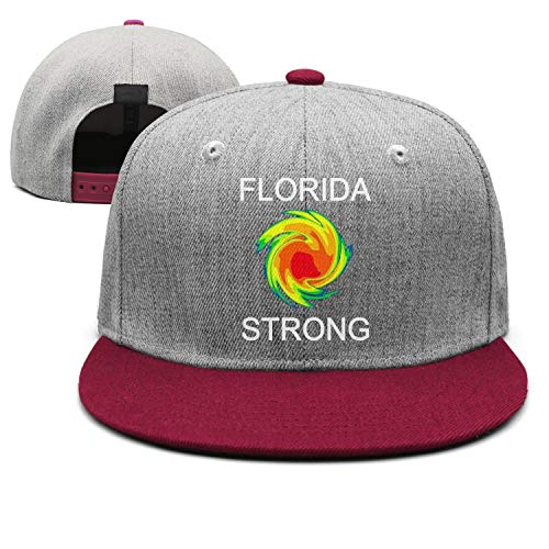 ZJING Unisex Hurricane Michael Florida Strong Classic Flat Bill Brim Trucker Hat Adjustable