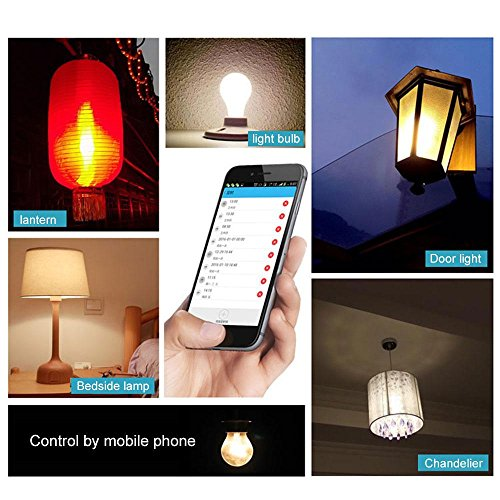 Leegoal Smart Light Socket, Wifi Bulb Socket E26 Intelligent Lamp Holder Plug, Works Alexa Google Home, Phone APP Remote Control Your Fixtures From Anywhere Timing Function by Leegoal (Image #6)