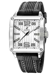 Calypso 5196/1 - Reloj de caballero de cuarzo, correa de piel color blanco