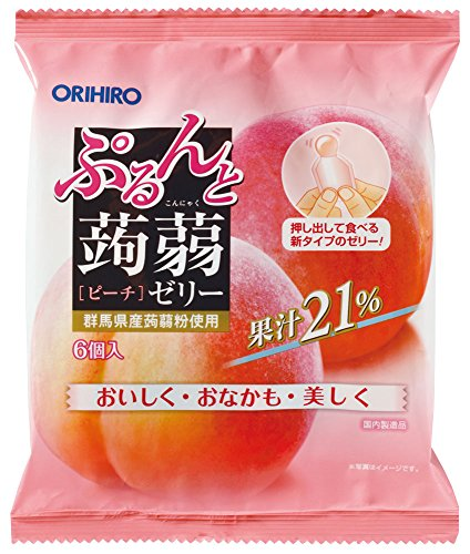 Orihiro Puru do and konnyaku jelly Peach (20gX6 pieces) X6 bags