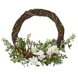 Worth Imports W/Pips 16″ Hydrangea Half Wreath withPips
