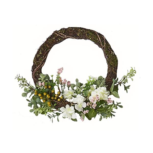 Worth Imports W/Pips 16″ Hydrangea Half Wreath withPips