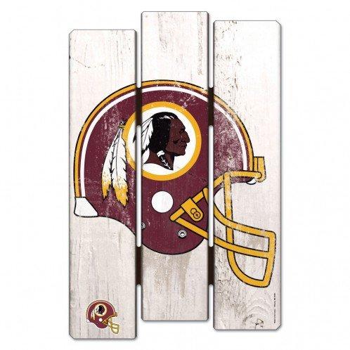 (Wincraft NFL Washington Redskins Wood Fence Sign, Black)