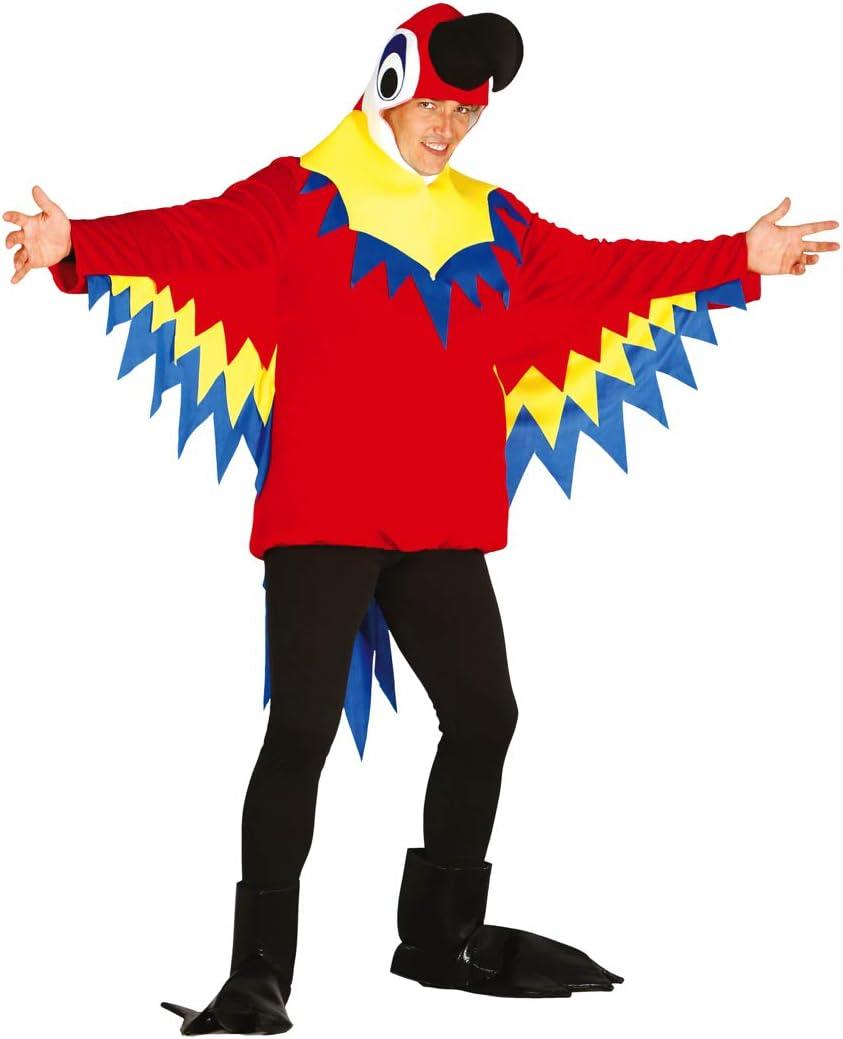 Guirca- Halloween Disfraz Loro, Color Multicolor. (atosa 84602)