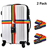 Gigabit Luggage Straps Suitcase Packing Belts Elastic Suitcase Strap Travel Bag Accessories 1/2/4 Pack