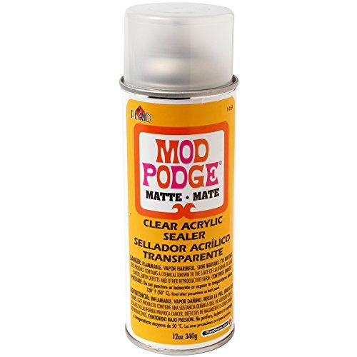 Mod Podge Clear Acrylic Sealer (12-Ounce), 1469 Matte - Acrylic Varnish