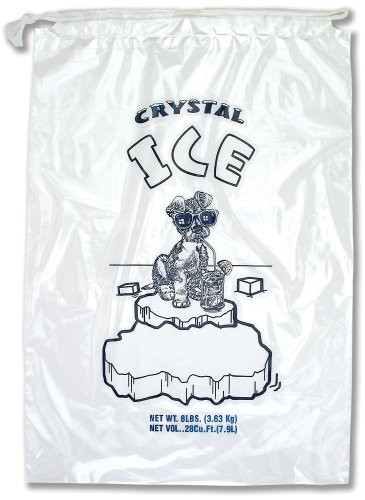 Interplas PB-ICE-8ADS 8 lbs Crystal Ice Icebags with Drawstring, 18
