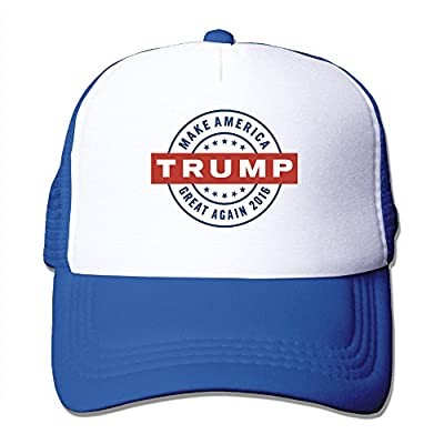 Unisex Donald Make America Great Again Adjustable Mesh Hat RoyalBlue