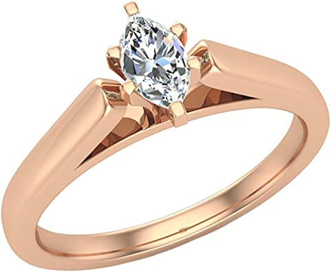14k Solid Yellow Gold Over Ring Wedding Set Band,Marquise Diamond Ring,Solitaire Ring, Engagement Set Ring