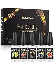 Salcar 5 x 10ML de Liquid para cigarrillo electrónico, VG70%/PG30%, manzana, cereza, arándanos, sandía, cola,sin Nicotina