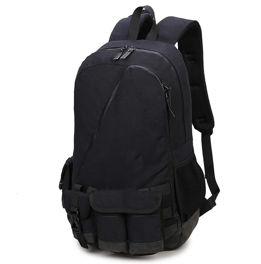 AY-MBJDFX アウトドア旅行バックパック、 ヨーロッパとアメリカのファッション 登山/キャンプ、 ナイロン生地 (色 : 黒) B07NL7R3QK 黒