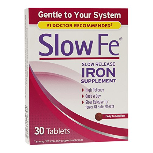 (Slow Fe Slow Release Iron, Tablets 30 ea (Pack of 6))