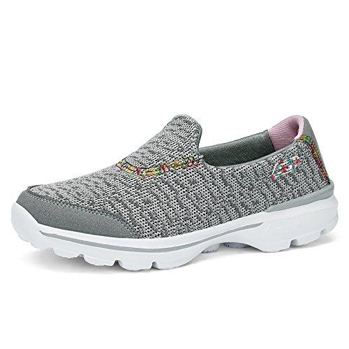 Zapatos Mujer Zapatos Fondo Deportivos de de Suave Ligeros Verano Zapatos Mamá y de Hasag Primavera gray Antideslizantes qTdwHgq