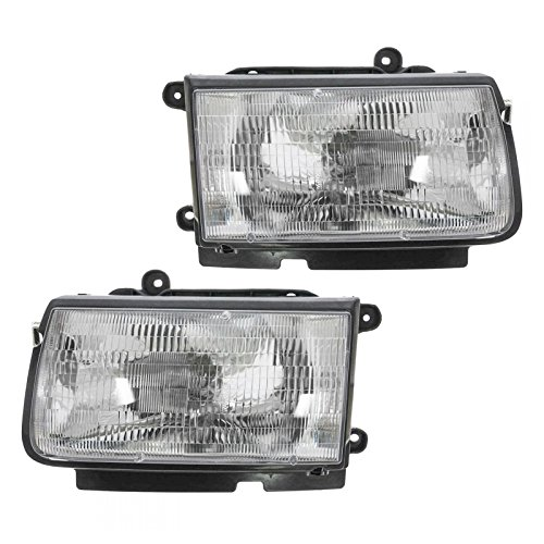 Isuzu Rodeo Headlamp - Headlights Headlamps Pair Set for 98-99 Isuzu Honda Amigo Rodeo Passport