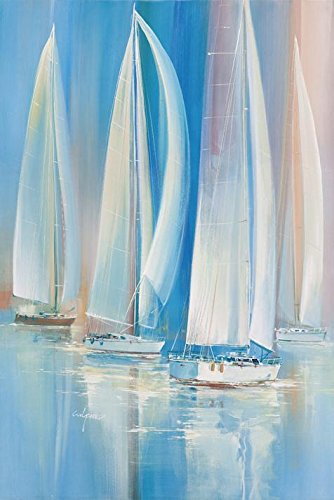 Oil Painting 'The Sailing Boats', 8 x 12 inch / 20 x 30 cm , on High Definition HD canvas prints is for Gifts And Garage, Kitchen And Living Room (Leopard Print Halloween Tutorial)