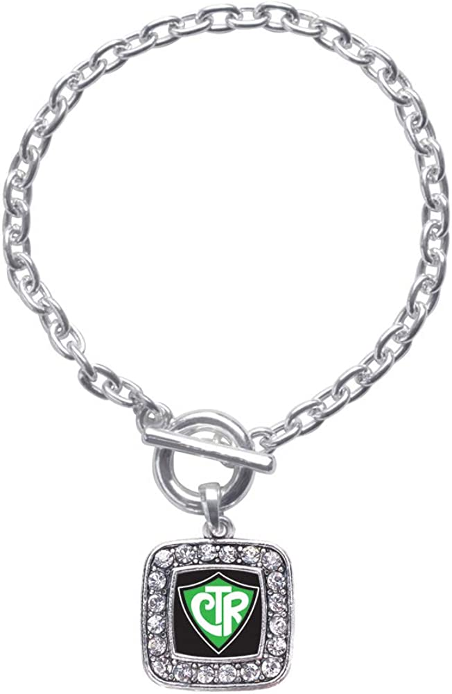 GRAPHICS /& MORE Skillin It Killing Skillet Cooking Funny Humor Silver Plated Bracelet with Antiqued Oval Charm