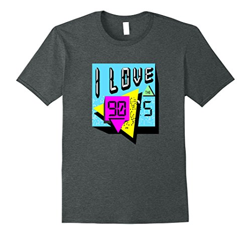 Mens 90s T-Shirt I Love The 90s Neon Graphics 1990s Tee-Shirt 3XL Dark (90s Men Outfit)