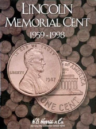 H E HARRIS 2705 Coin Folder LINCOLN MEMORIAL CENT PENNY 1999-2008