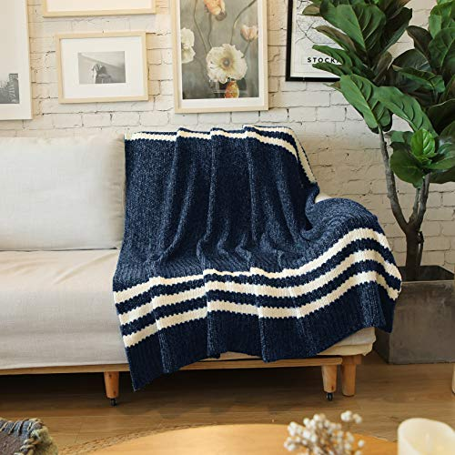 ALPHA HOME Chenille Throw Blanket - Ultra Soft - 50