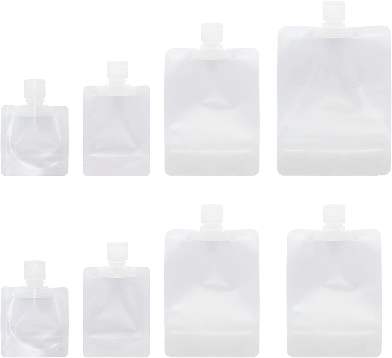 RIIEYOCA Portable Travel Liquid Clear Plastic Empty Packaging Bag (8pcs)(Mix)