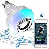 Bombilla de luz Bluetooth de música ligera LED - Altavoz inalámbrico con audio estéreo Radio E27 7 W LED RGB que cambia de luz inalámbrica