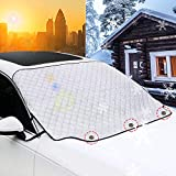 OASMU Car Windshield Sunshade Cover Magnetic Edges,4-Layer Car Sunshade Summer Keep Cool Sun Shade Snow ice Cover for Cars Trucks Vans and SUVs-M