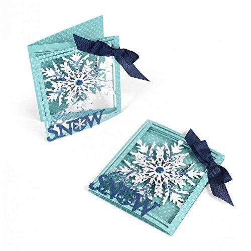 (Sizzix 661555 Thinlits Die Set, Tri-fold Card, Snowflake by Lindsey Serata (8-Pack))