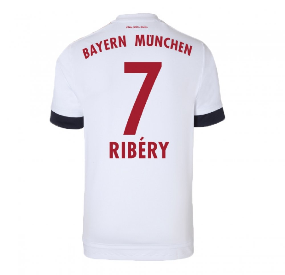 2015-16 Bayern Munich Away Shirt (Ribery 10) B078CQ4MLWRed XS 34-36\