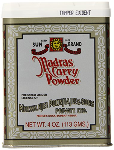 Sun Brand Madras Curry Powder, 4-Ounce Tins (Pack of 12) by SUN