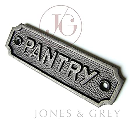 VINTAGE STYLE CAST IRON DOOR SIGN   PANTRY